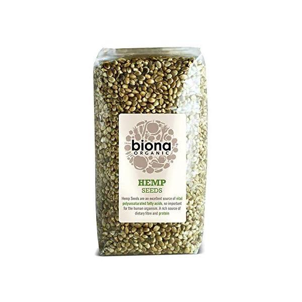 Biona – Seeds Hemp Organic – 250g (Pack of 4)