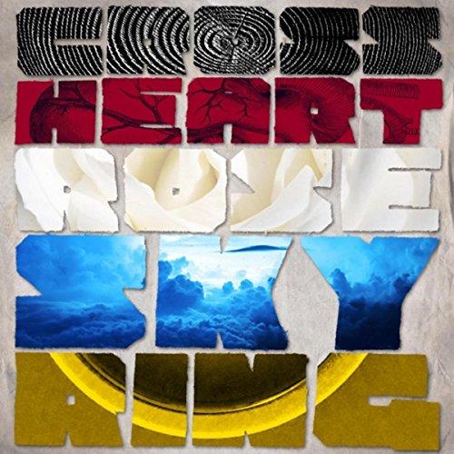 Cross Heart Rose Sky Ring