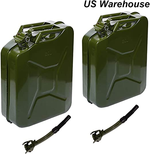 Jerry Can 5 Gallon 20L Gasoline Can Gas Storage Tank Holder Steel Fit