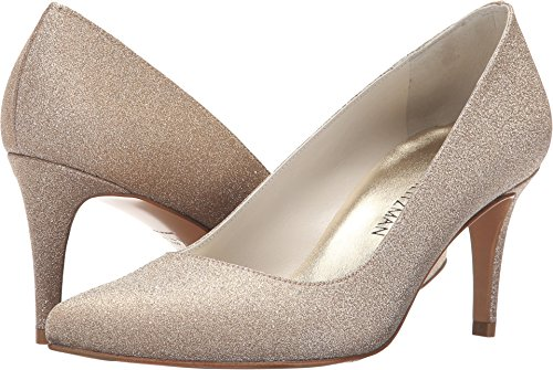 Stuart Weitzman Bridal & Evening Collection Women's Tessa Midgold Glitterati 10 M US - Stuart Weitzman Evening Shoes