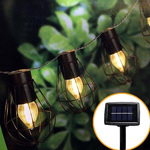 Solar Outdoor Lights Uae: Outdoor String Lights 10 Led Waterproof Hanging Solar