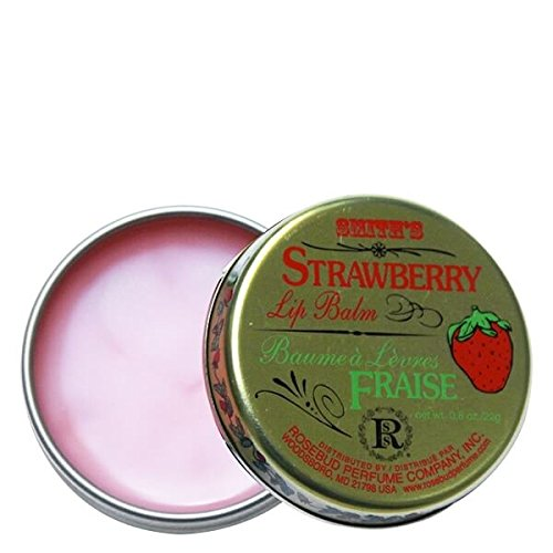 Rosebud Strawberry Lip Balm - Strawberry Salve Tin 0.8 oz by Smith's