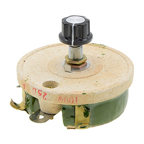 YXQ Ceramic Rheostat,100W 250 Ohm Disk Variable Wirewound Rotary Potentiometer Power Resistor -