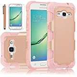 Galaxy Core Prime Case, EC™ Galaxy Prevail LTE Case, Dual Layer Rugged Soft TPU Bumper Hard PC Shell Shockproof Case Cover for Samsung Galaxy Core Prime / Prevail LTE G360 (G-Rose Gold)