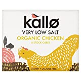 Kallo Organic Very Low Salt Chicken Stock Cubes - 6 x 8g