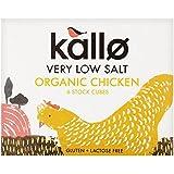 Kallo Organic Very Low Salt Chicken Stock Cubes - 6 x 8g