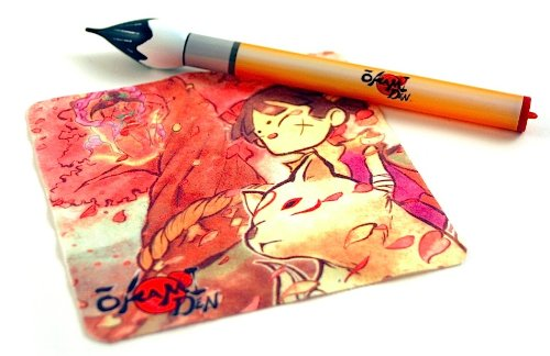 Okamiden Celestial Paintbrush Stylus and Screen Cleaning Cloth Set (Nintendo DS/DSi/DSi XL/3DS)