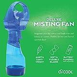 O2COOL Deluxe Handheld Powered Fan Fine Mist