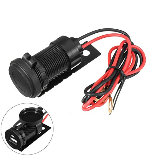 Wooya 12V 1A Motorcycle Usb Socket Charger With Waterproof Cap For Bmw