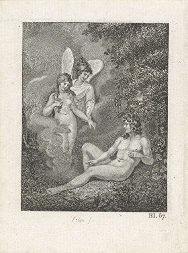 Classic Art Poster - Angel and a woman appear at a naked man, Philip Vellum, 1820 17