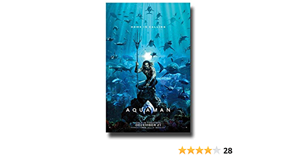 """B2G1F T6 Details about  /AQUAMAN 11/"""" x 17/"""" Movie Collector/'s Poster Print  -"""