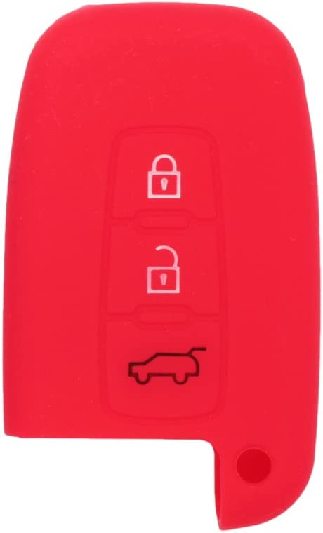 SEGADEN Silicone Cover Protector Case Skin Jacket fit for HYUNDAI 3 Button Smart Remote Key Fob CV9101 Orange