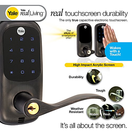 Yale Real Living Touchscreen Z Wave Lever Lock