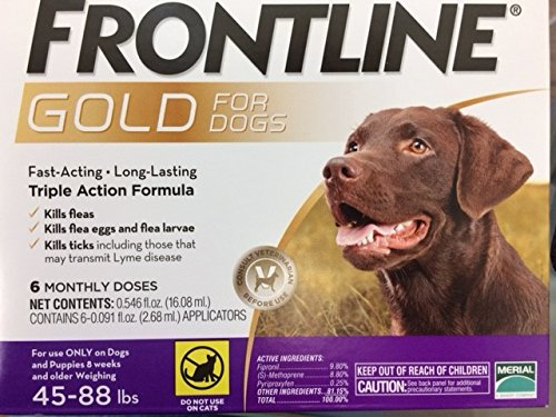Frontline Gold for Dogs 4588 lbs Purple (6 Month) by Frontline