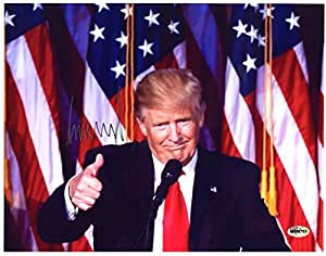 Donald Trump United States President Signed Autographed Thumbs Up Photo