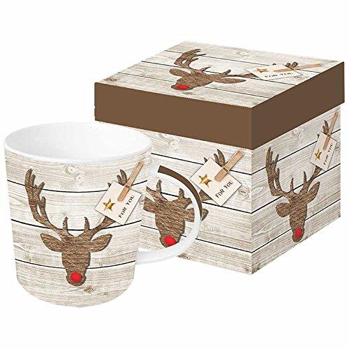 Rudi Cup - Paperproducts Design Mug In Gift Box Featuring Rudi Red Nose Design, 5 x 4 x 4