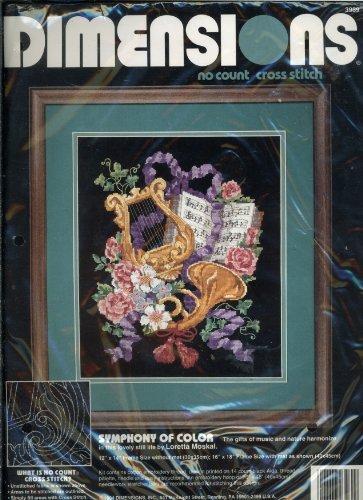 Dimensions No Count Cross Stitch (Dimensions No Count Cross Stitch - Symphony of Color by Artist Loretta Moskai)