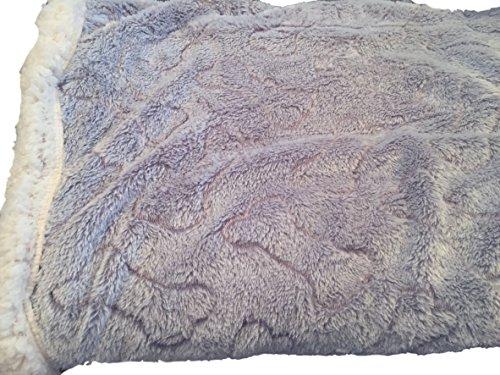 Perfect Pet Gray Embossed Bones Plush Sherpa Fleece Throw Blanket
