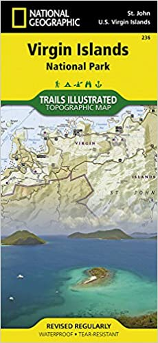 Virgin Islands National Park National Geographic Trails - Us map geographic image