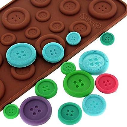 nicebuty bonita forma de botón molde de silicona molde de chocolate