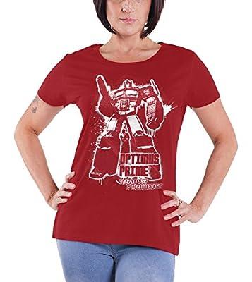 Officially Licensed Merchandise Optimus Prime Splatter Girly Tee
