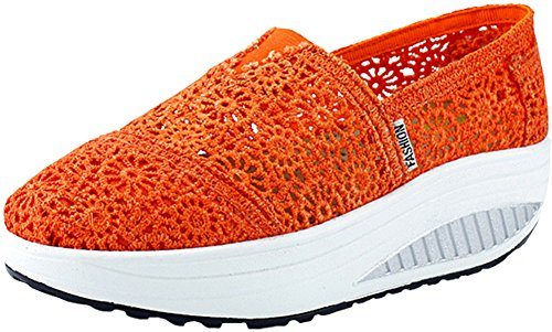 Orange Sneakers June June Mirah Mirah Slip Womens Womens on Upper Lace Upper Lace 7BaAA