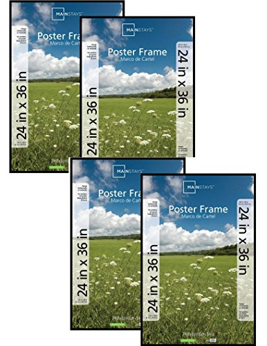 Mainstays`` 24x36 Basic Poster & Picture Frame Black, Set of 4. Buy More! Save More!