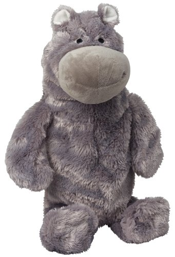 Doggles 2-Liter Hippo Dog Toy, Gray