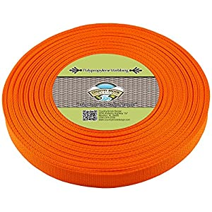 Country Brook Design | Polypropylene Webbing (1 Inch) (Orange, 25 Yards)
