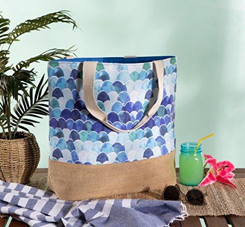 a680988a847c DII Mermaid Jute Beach Bag 17x20.5x5.5 Shoulder Travel Tote ...