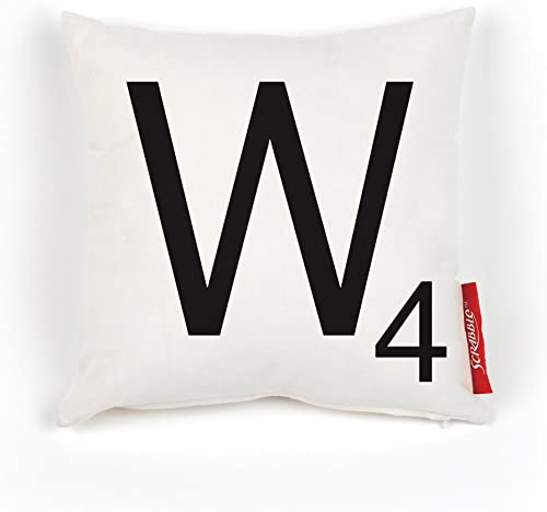 Scrabble 100-Percent Polyester Pillow Cover, Letter W