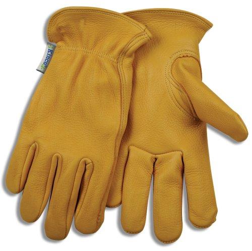 Premier Unlined Gloves - KINCO 90W-L Women's Unlined Deerskin Driver Gloves, Large, Golden