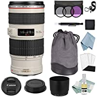Canon EF 70-200mm f/4L IS USM Lens + Canon EF 70-200mm Lens Advanced Accessory Kit - Canon Lens Bundle Includes EVERYTHING You Need to Get Started