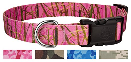 Country Brook Design | Deluxe Pink Waterfowl Camo Dog Collar - Medium