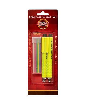 KOH-I-NOOR Schneiderkreidestift - 2 Stück mit 6 Ersatzminen ...