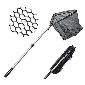 "MadBite Fishing Net Safe Catch & Release Fish Landing Net, Foldable – Durable, Strong Yet Light Weight (16""/40cm)"