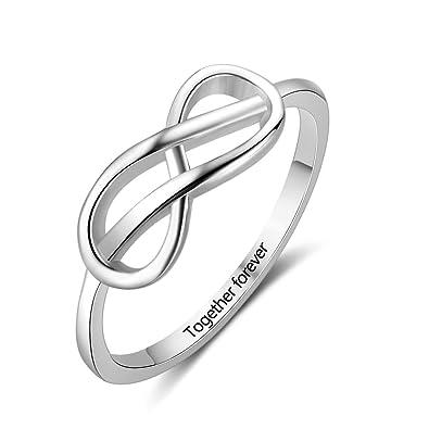 Amazoncom Madisonava Personalized Infinity Sign Bff Ring