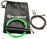 HIT 360 Speed Jump Rope (+ Bag and Spare Cable) - Black/Green Cable