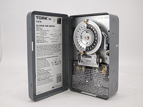 Dial Type Enamel (Tork 1101b Spst 40a 120v 24hr. Dial Timer)