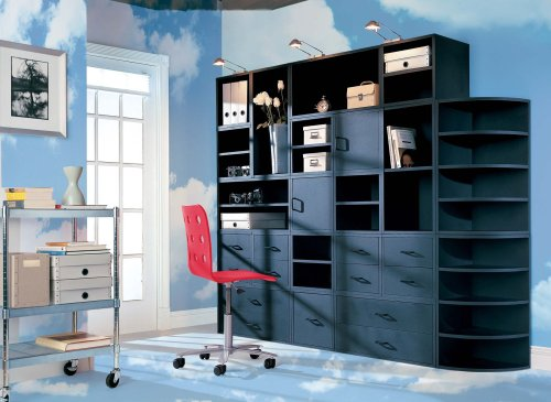 Foremost 328006 Modular Corner Radius Cube Storage System, Black