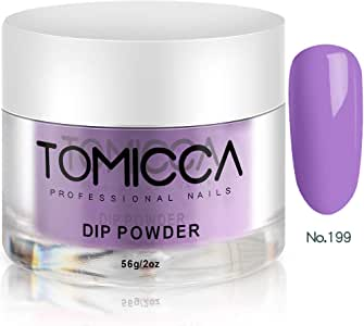 TOMICCA Dip Powder Acrylic Dipping Dust Powder for Nails 2 Ounce (Violet)