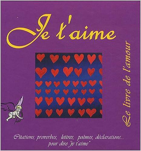 Je T Aime Le Livre De L Amour Pdf Télécharger