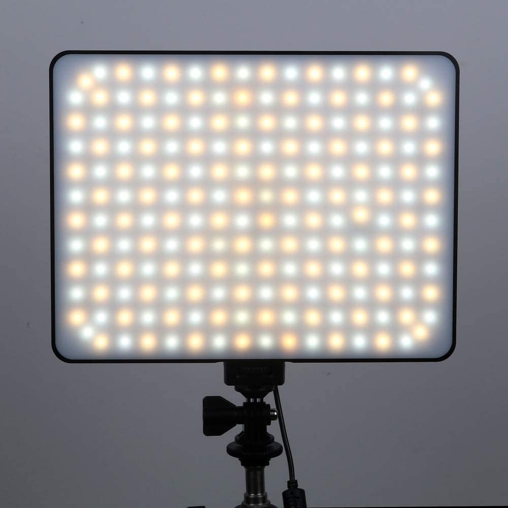 Battery DO NOT Include Viltrox VL-200T Bi-Color LED Video Panel Light with DC Power Adapter Wireless Remote Control for Studio Photography
