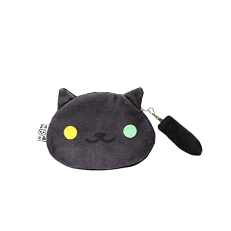 Image Unavailable. Image not available for. Color  Rain s Pan Anime Neko  Atsume Cat Backyard Cosplay Plush Zipper Coin Bag ... 7554d2ed4c807