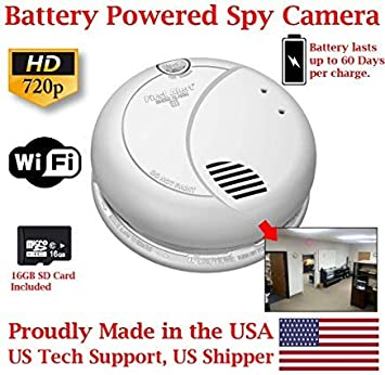 HD 720P Smoke Detector Covert Hidden IP//Network  Surveillance Spy Camera nanny