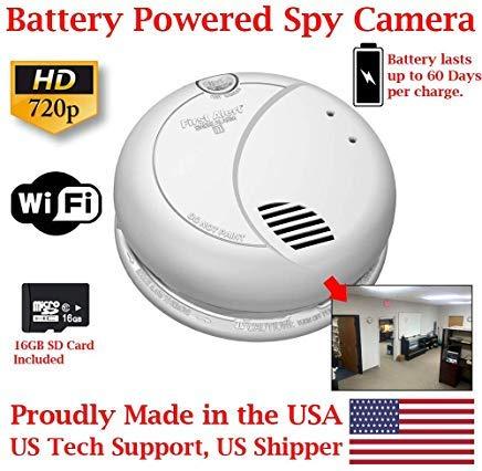 Amazon.com: ZEUS CCTV ZCH-SMK60D HD 720P - Detector de humo ...
