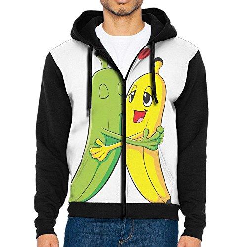 Losport If You Love Bananas Men's Adult Full-Zip Hooded Fleece Sweatshirt Casual Long Sleeve Hoodies - Canada Tracking In Usps
