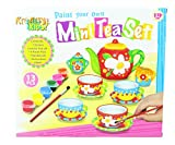 Childrens Create Paint Your Own Mini Tea Set Porcelain Cups Kids Dolls Party Toy