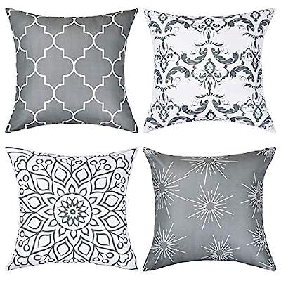 BLEUM CADE Throw Pillow Covers Modern Decorative Throw Pillow Case Cushion Case for Room Bedroom Room Sofa Chair Car