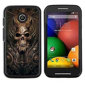 Stuss Case / Funda Carcasa protectora - Gótico del cráneo del demonio - Motorola Moto E